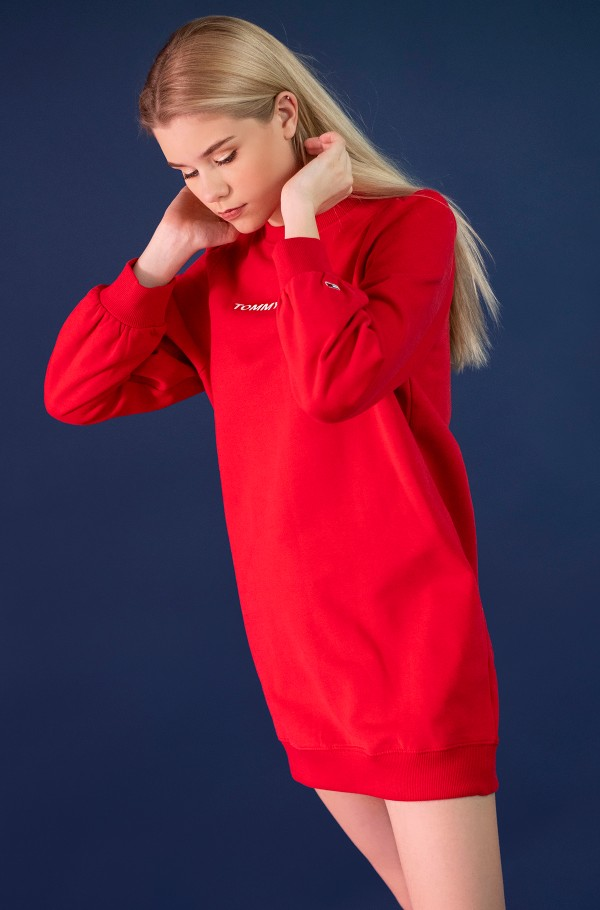TJW HEART LOGO SWEAT DRESS-hover