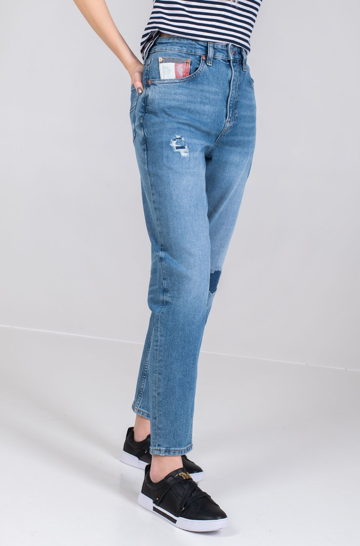 Džinsinės kelnės MOM JEAN HIGH RISE TAPERED AKR-full-2