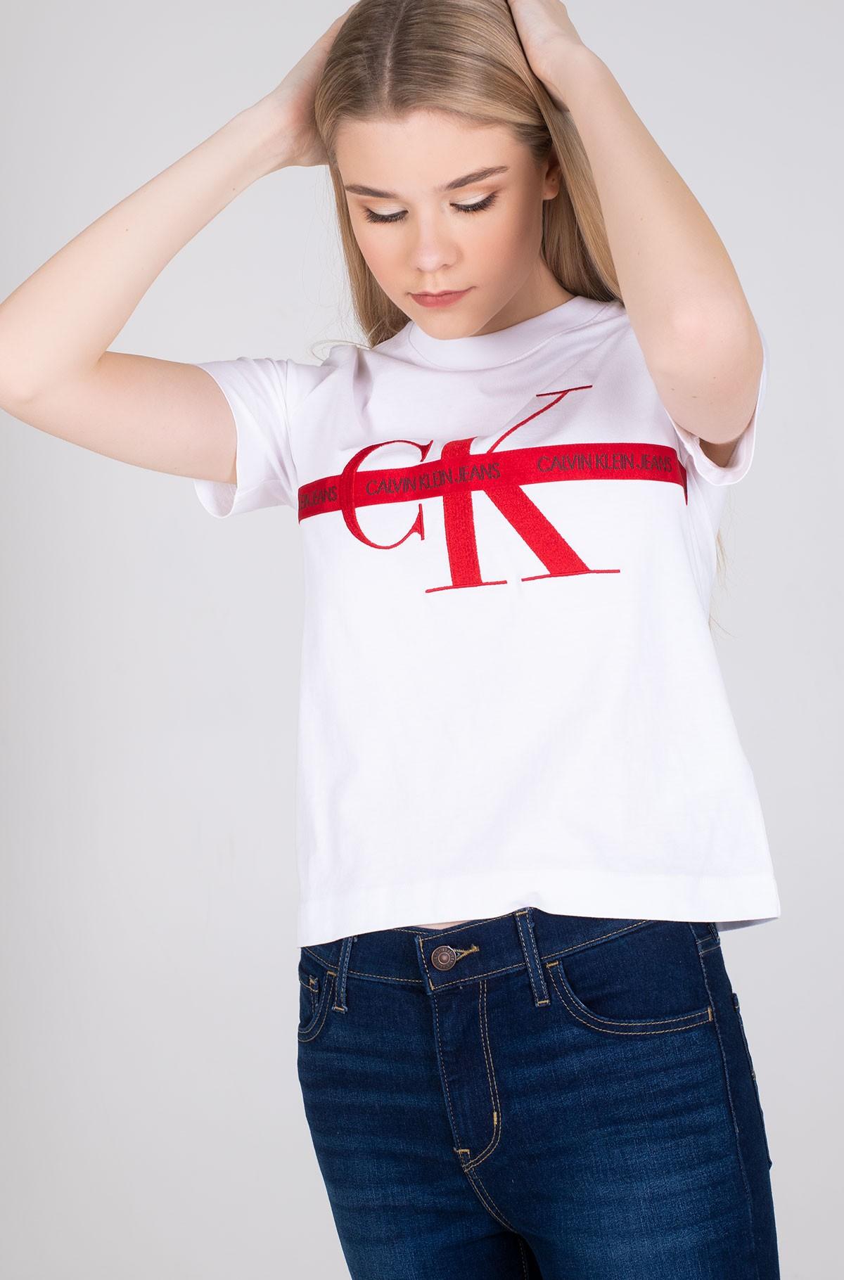 Marškinėliai TAPING THROUGH MONOGRAM TEE-full-1