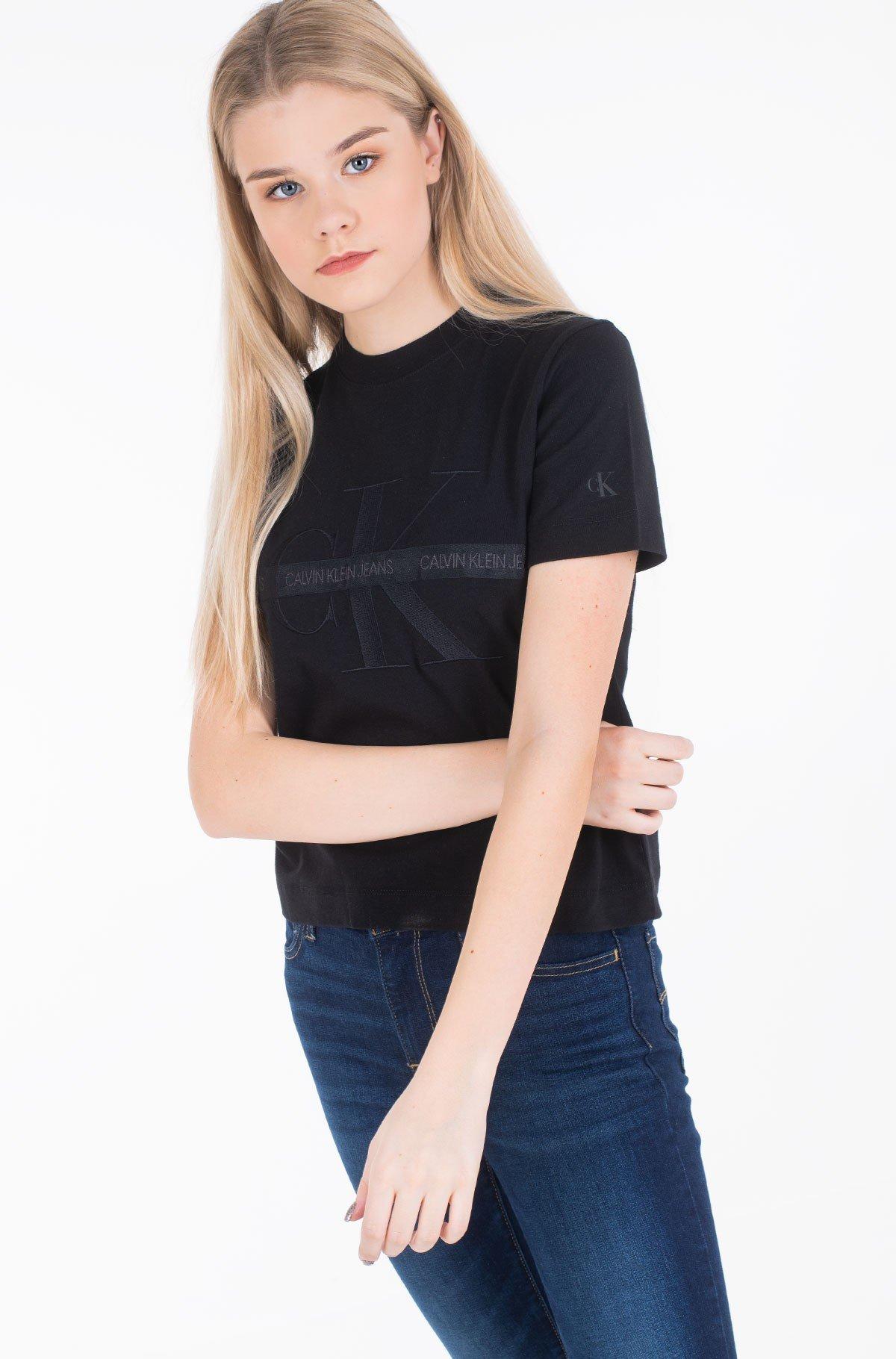 T-shirt TAPING THROUGH MONOGRAM TEE-full-2