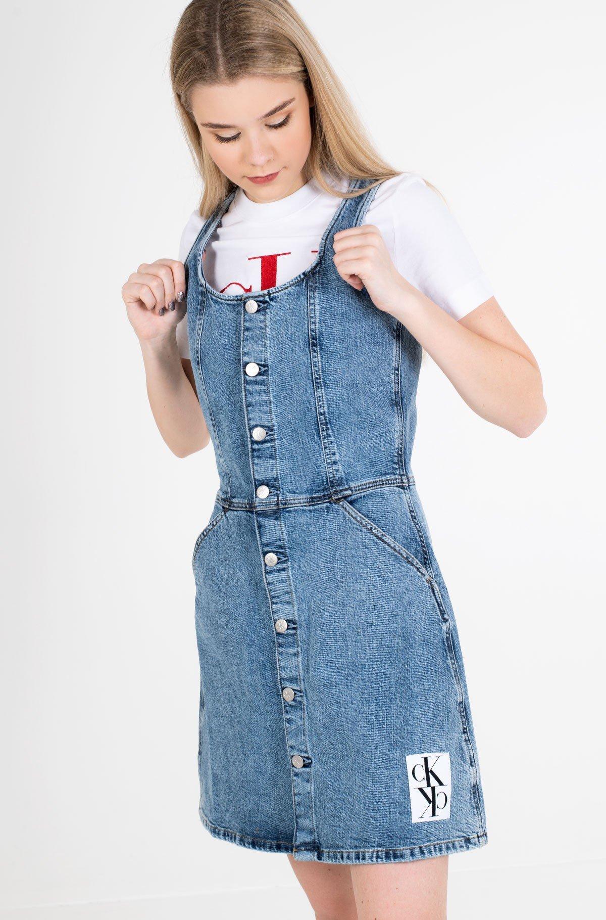 Denim dress BUTTON DOWN TANK DRESS-full-2