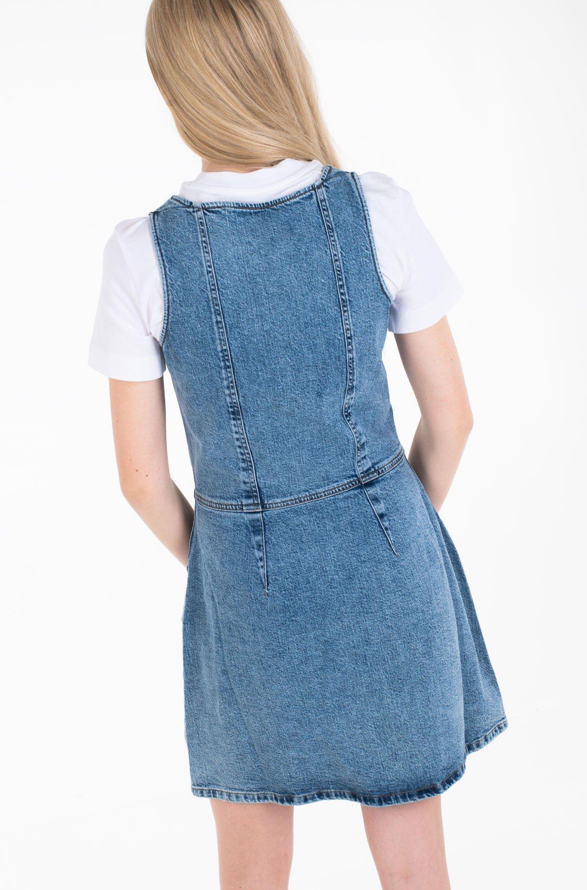 Denim dress BUTTON DOWN TANK DRESS-full-3