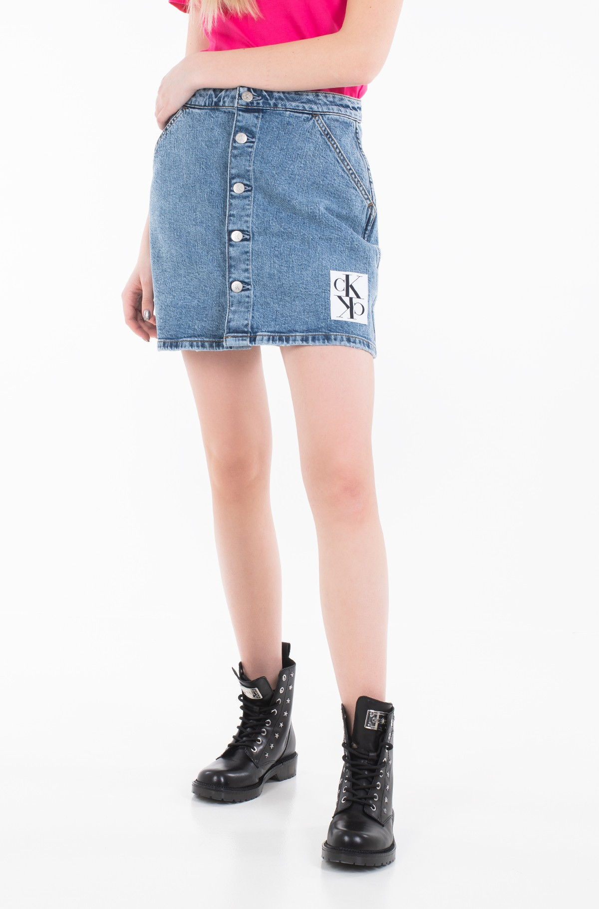 Denim skirt  BUTTON DOWN UTILITY SKIRT J20J212786-full-1