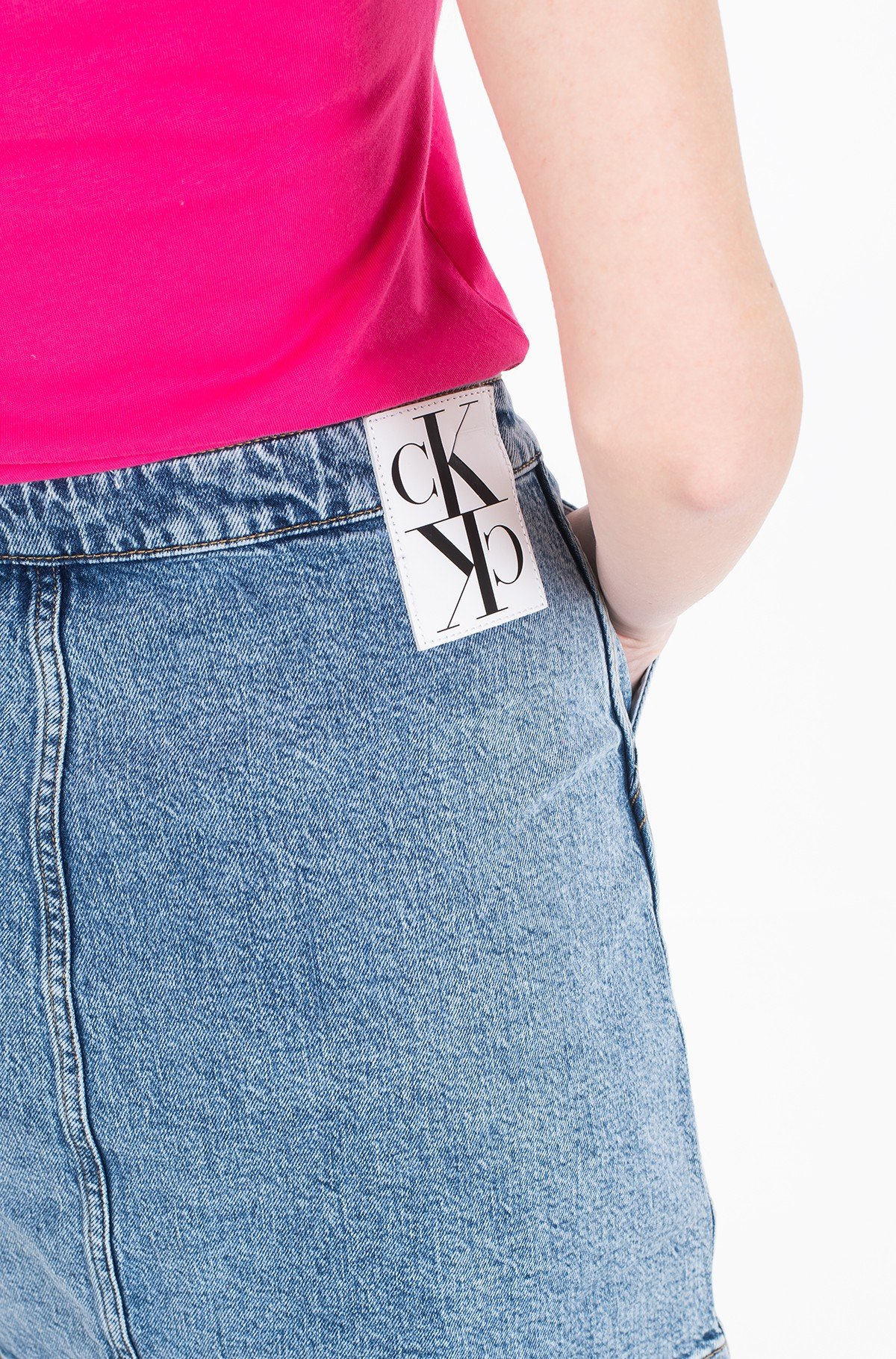 Denim skirt  BUTTON DOWN UTILITY SKIRT J20J212786-full-2