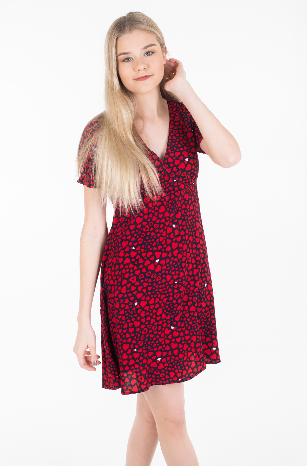 Suknelė TJW HEART PRINT V-NECK DRESS-full-1