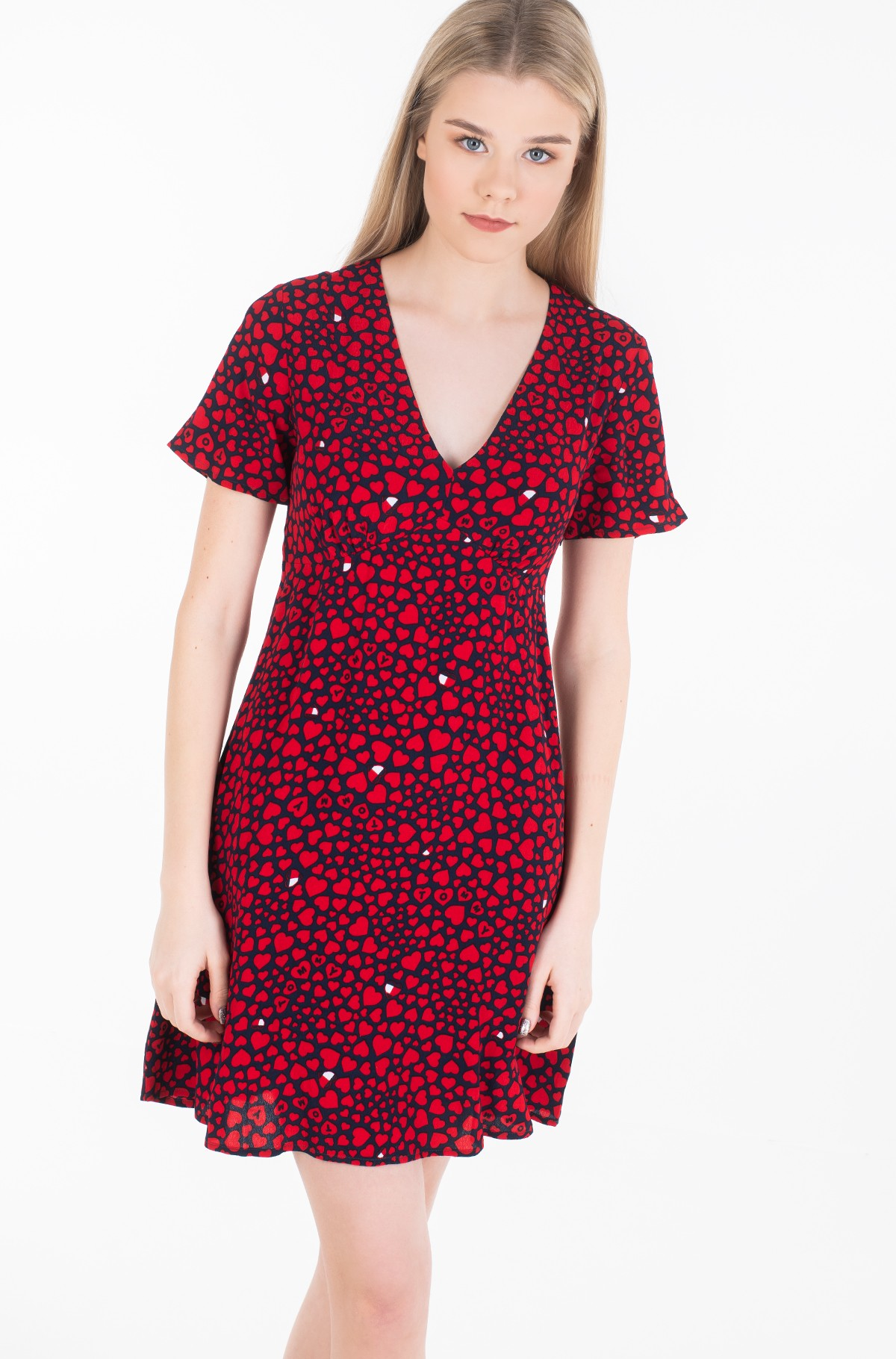 Suknelė TJW HEART PRINT V-NECK DRESS-full-2