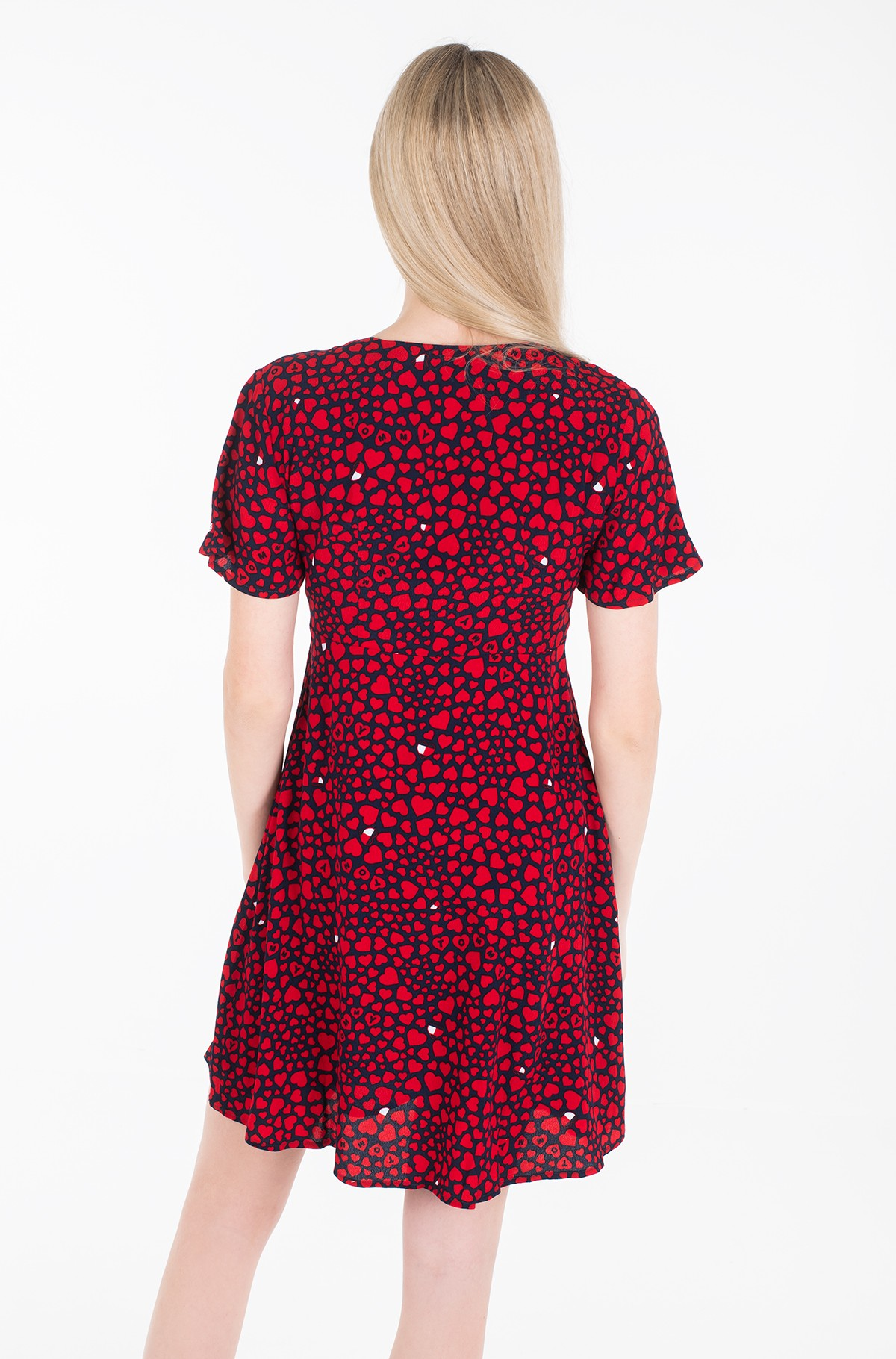 Suknelė TJW HEART PRINT V-NECK DRESS-full-3