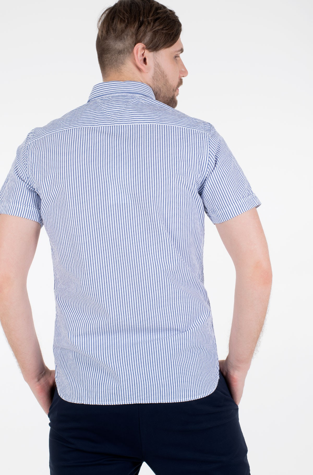 Triiksärk SLIM SEERSUCKER STRIPE SHIRT S/S	-full-2