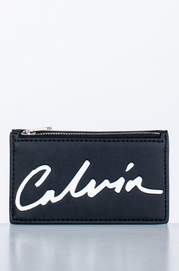 CKJ SCULPTED CARD CASE W/COIN