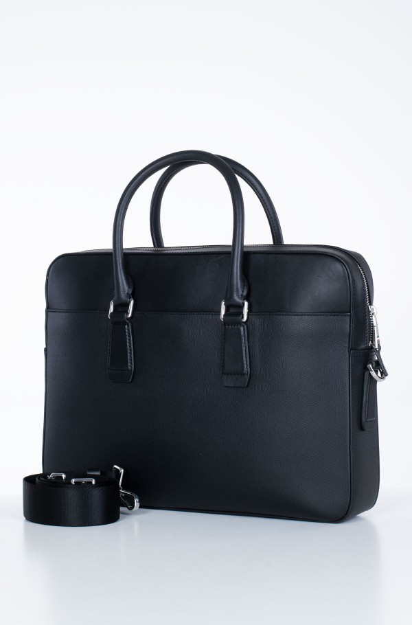 BUSINESS LEATHER SLIM COMP BAG-hover