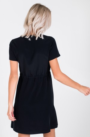 Kleit BRANDED DRAW CORDS WAISTED DRESS-3