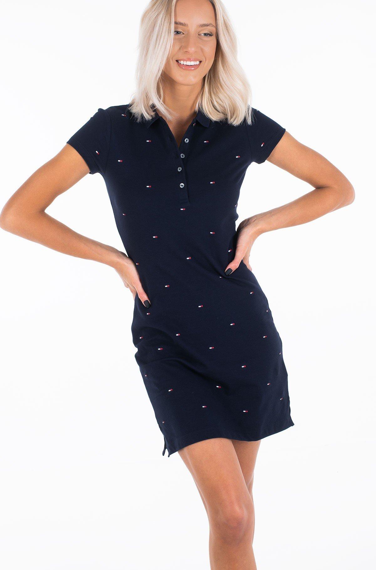 Polo suknelė SLIM EMBR POLO DRESS SS-full-1