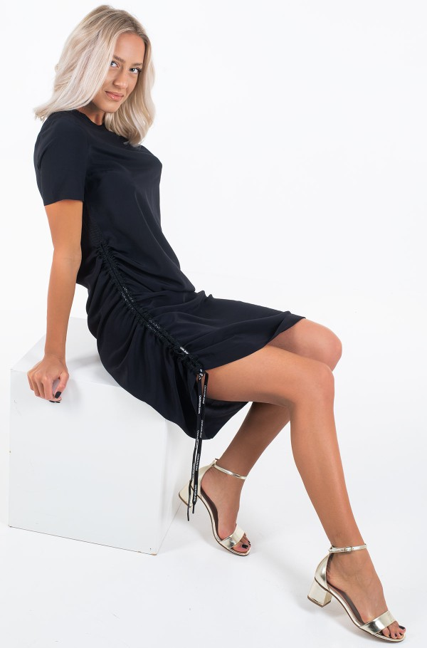 SS DRAPEY DRESS WITH LACING-hover