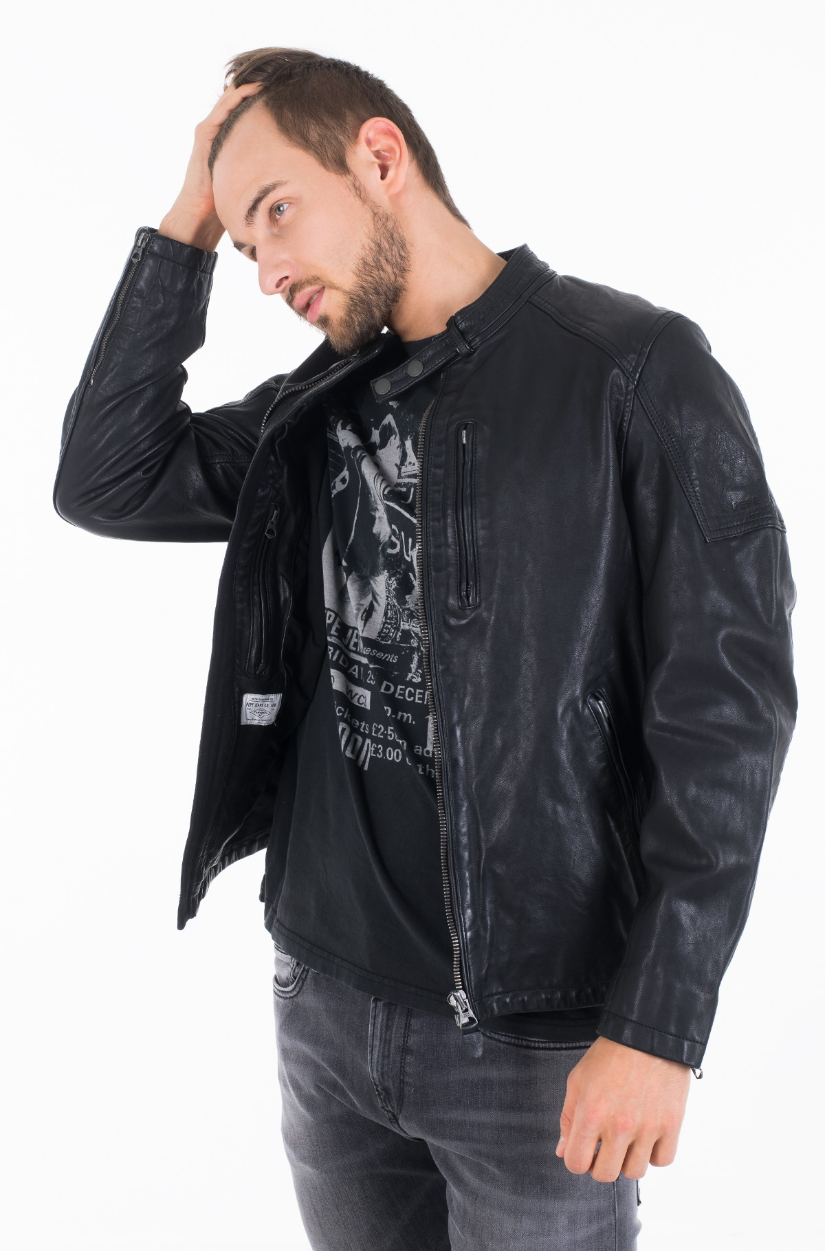 Leather jacket DONOVAN/PM402177-full-1