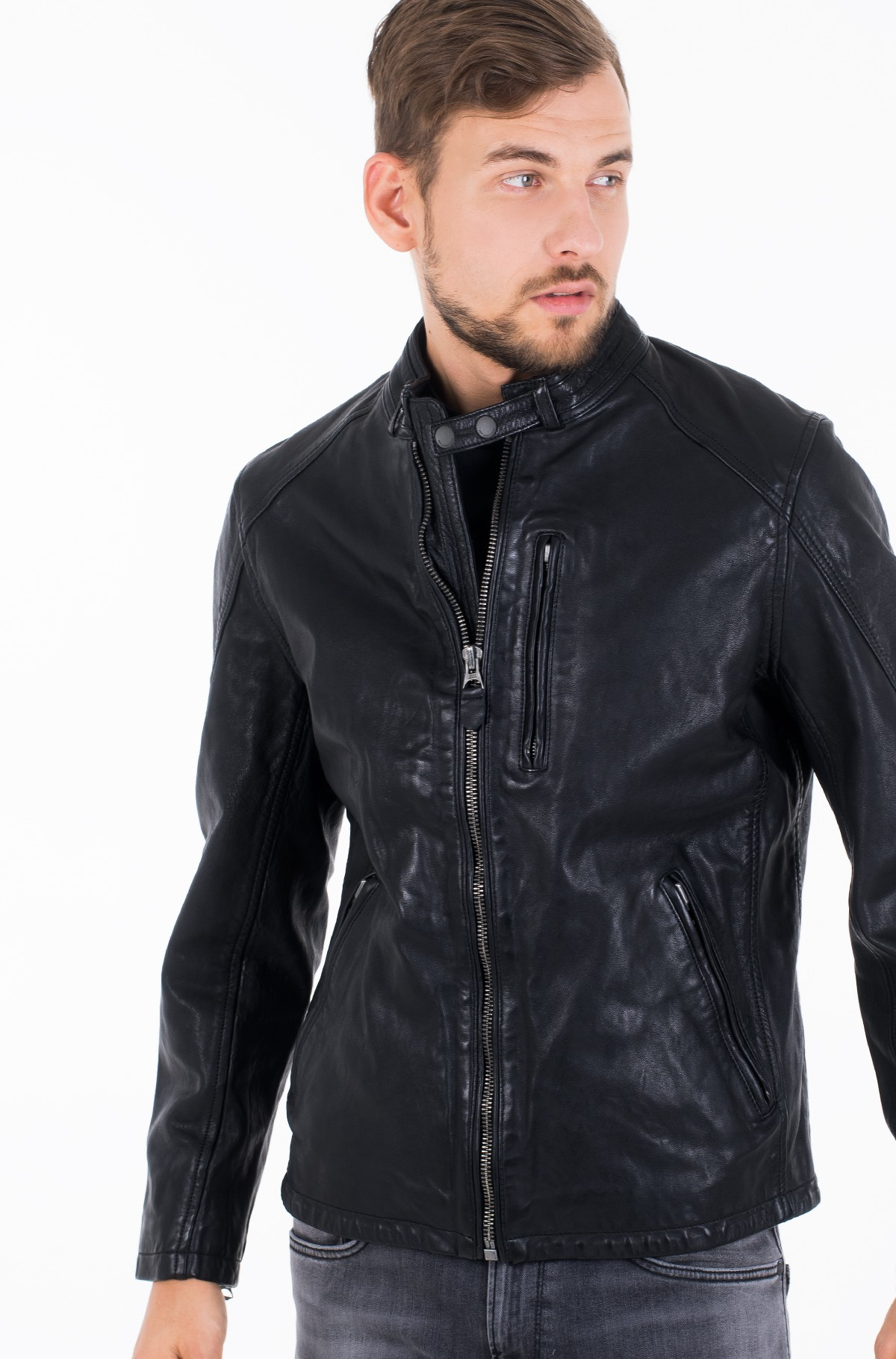 Leather jacket DONOVAN/PM402177-full-3