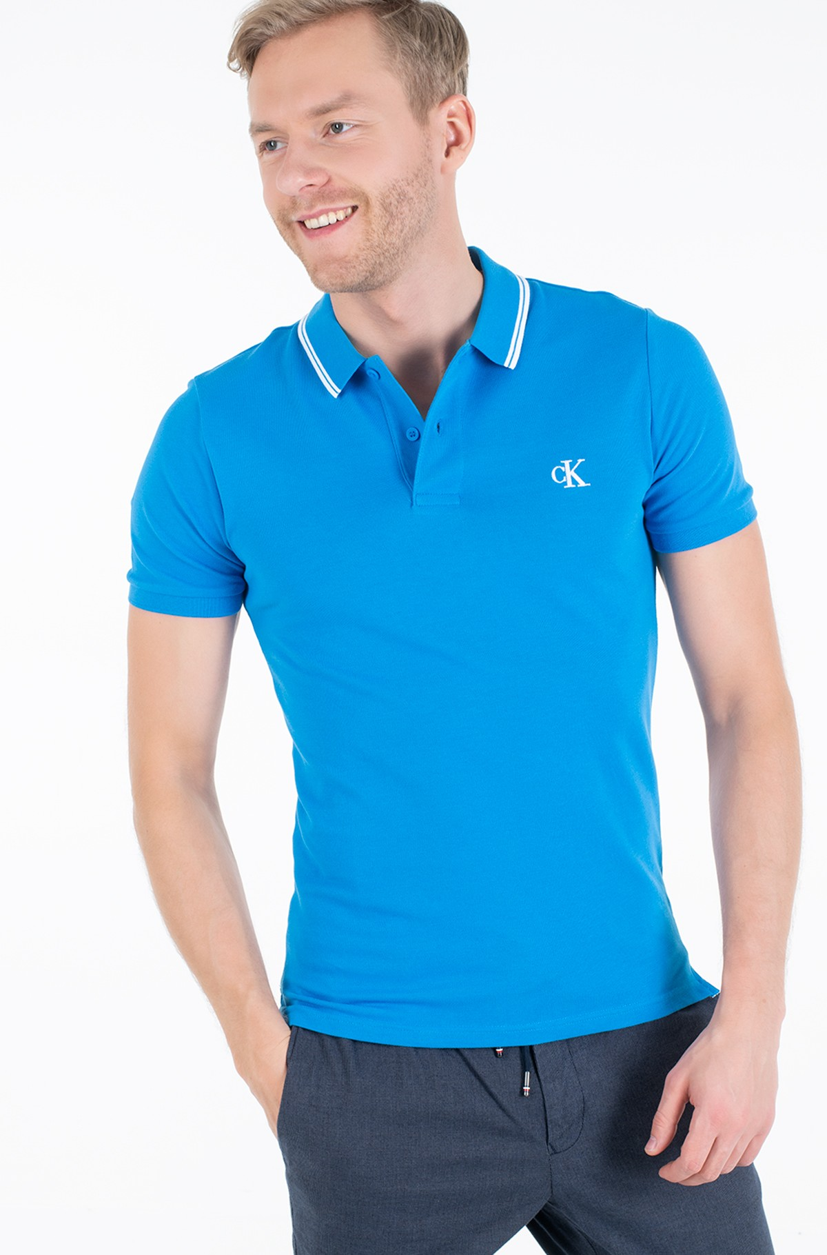 Polo CK ESSENTIAL TIPPING SLIM POLO-full-1