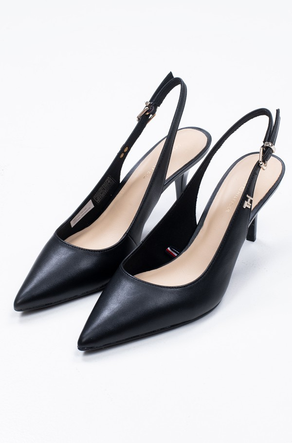 FEMININE LEATHER MID SLING BACK-hover