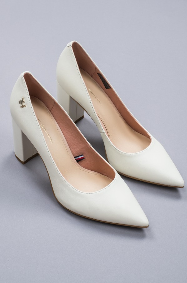FEMININE LEATHER HIGH HEEL PUMP