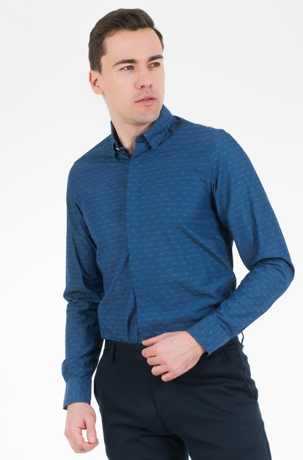 SLIM CRAVAT JACQUARD SHIRT