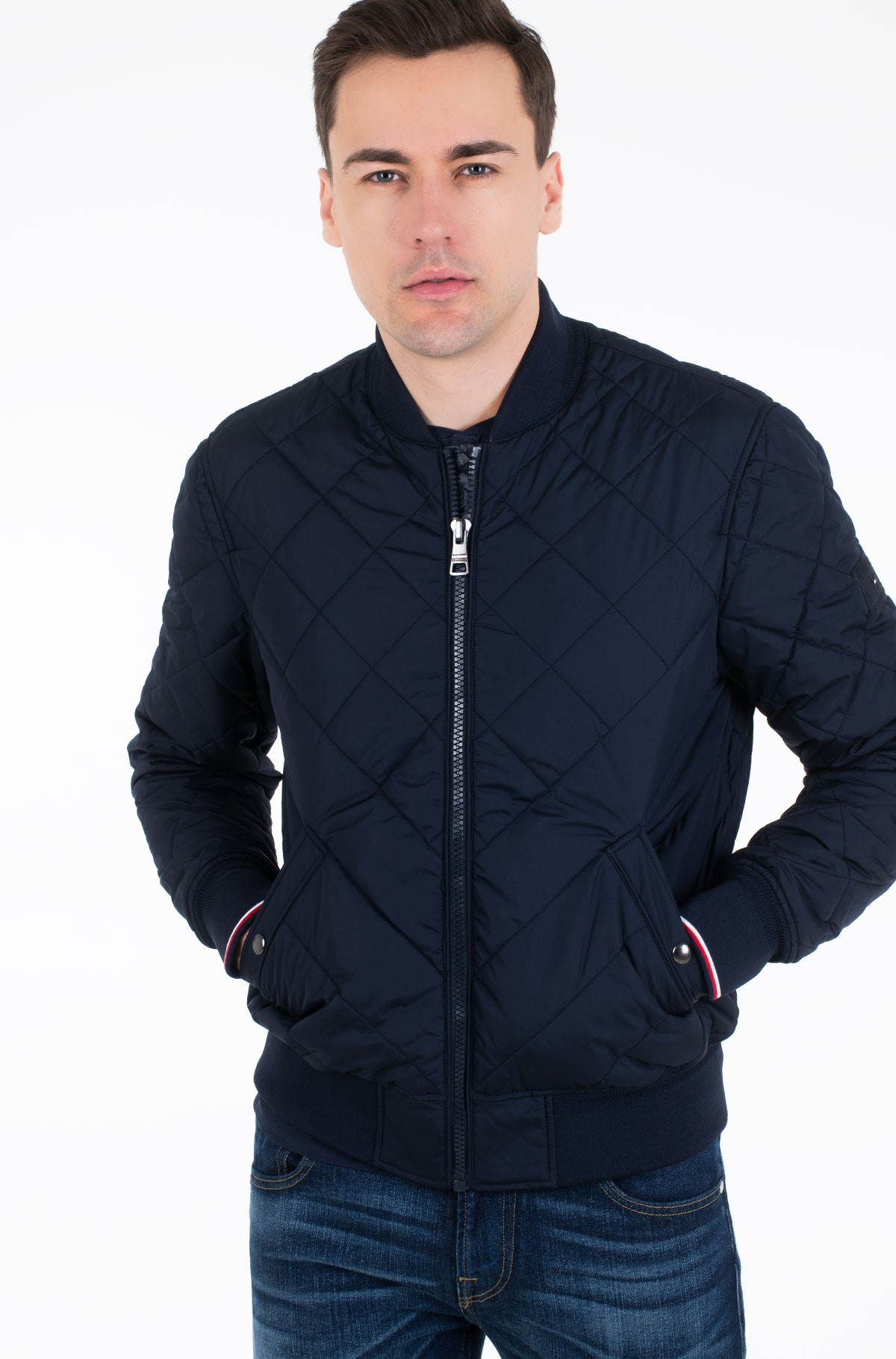 Striukė CHEVRON QUILTED BOMBER-full-1