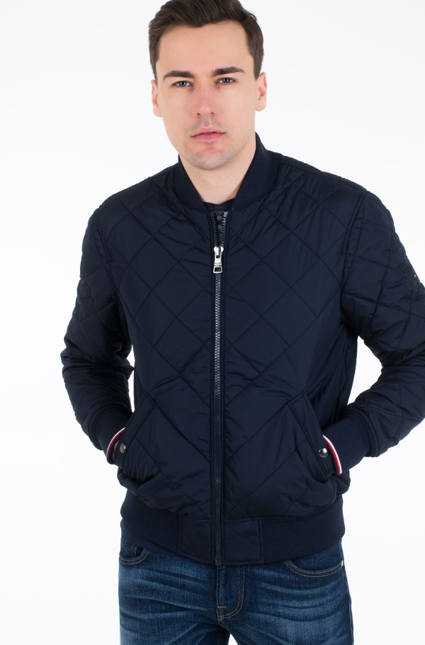 CHEVRON QUILTED BOMBER