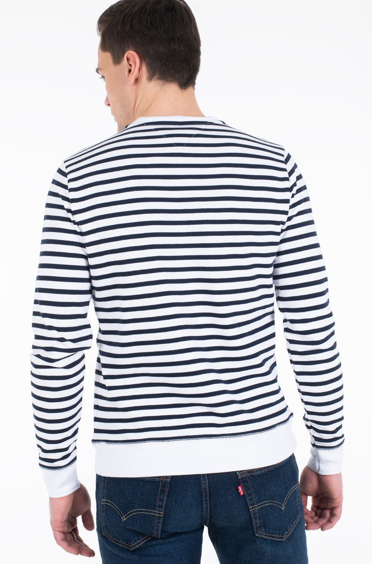 Džemperis NAVAL STRIPED SWEATSHIRT	-full-3