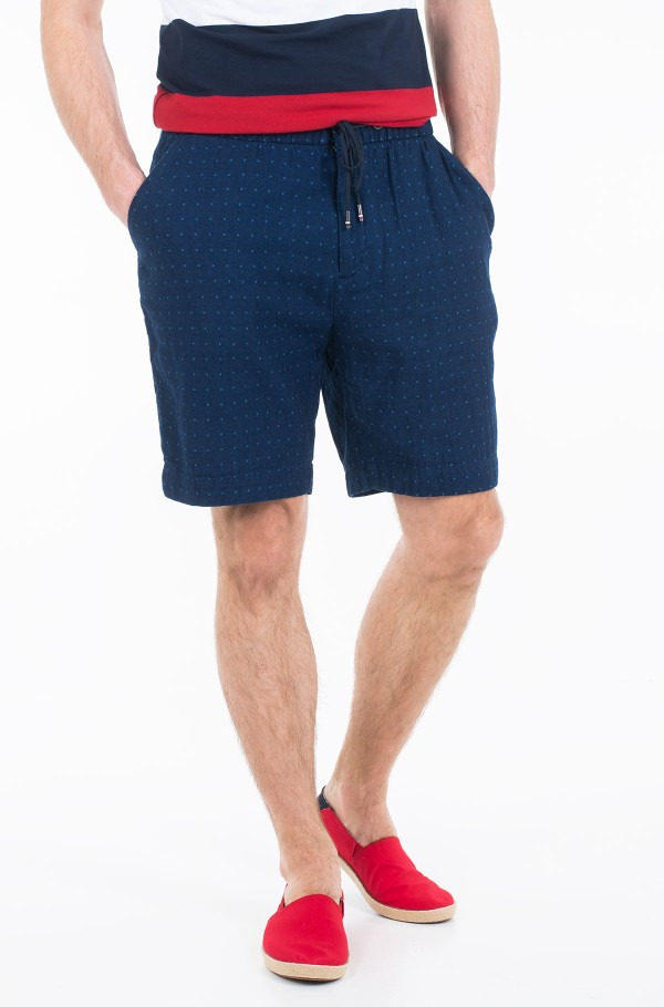 ACTIVE PLEATED SHORT INDIGO DOT
