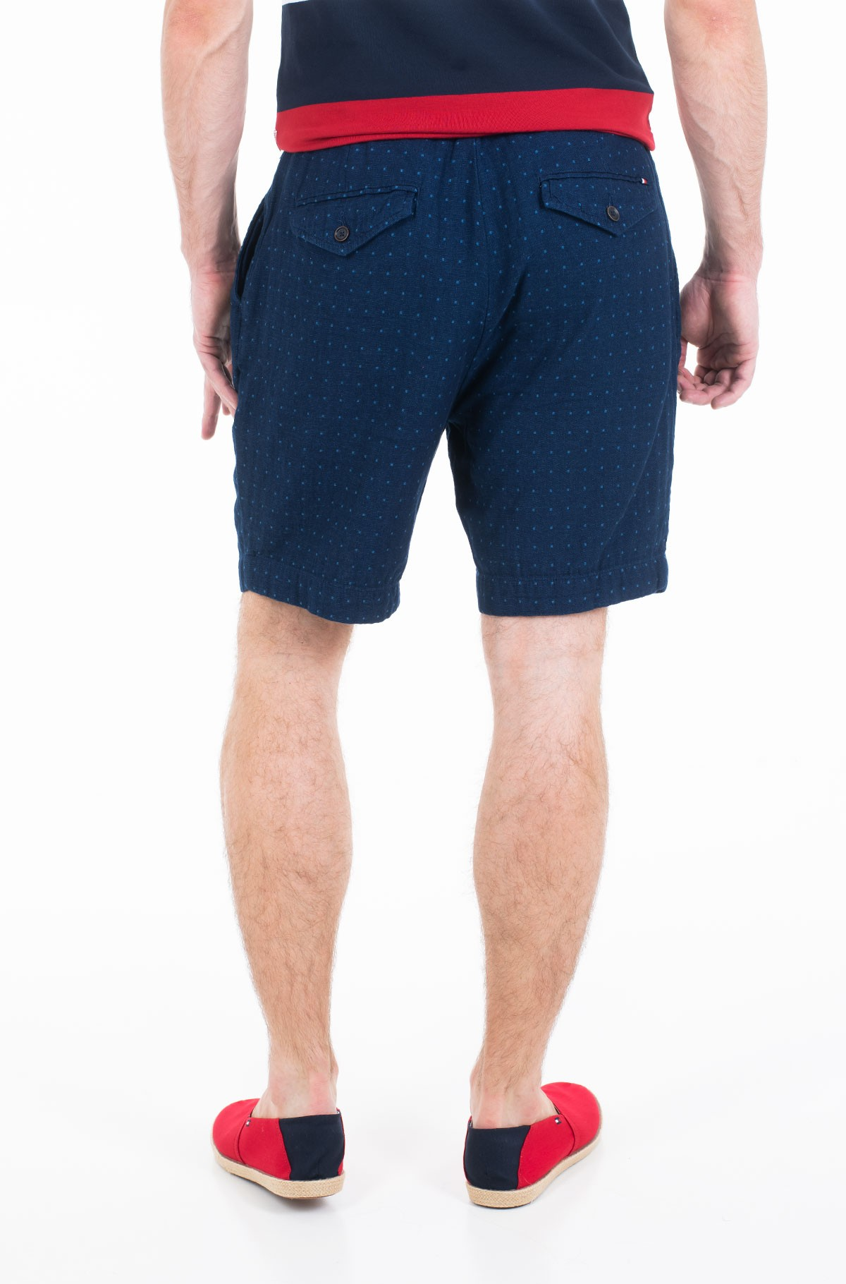 Šortai ACTIVE PLEATED SHORT INDIGO DOT-full-2