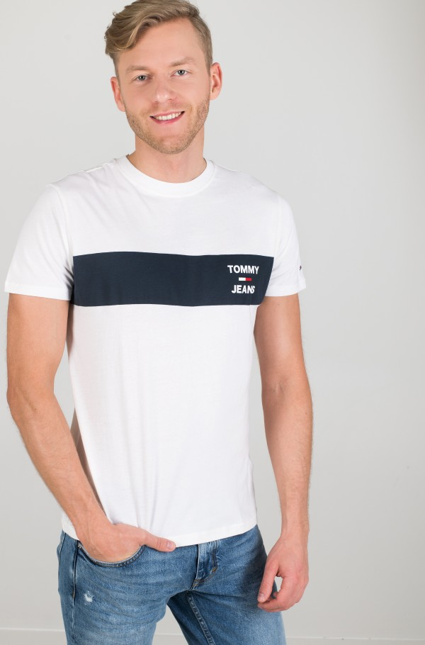TJM CHEST STRIPE LOGO TEE