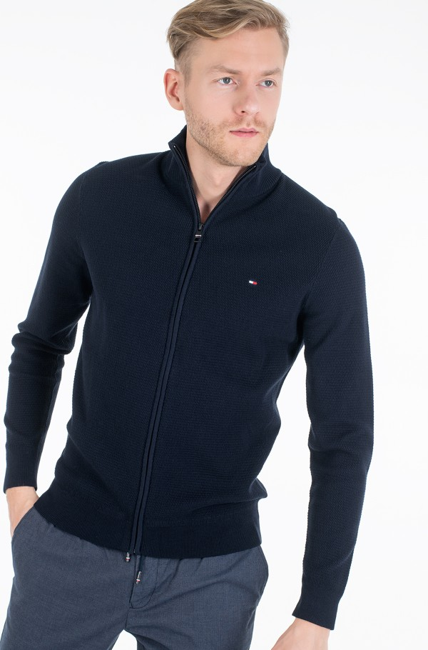 STRUCTURED COTTON ZIP THRU