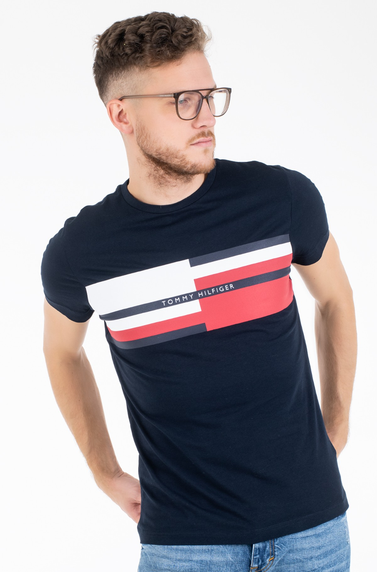 T-särk ABSTRACT STRIPE TEE-full-1