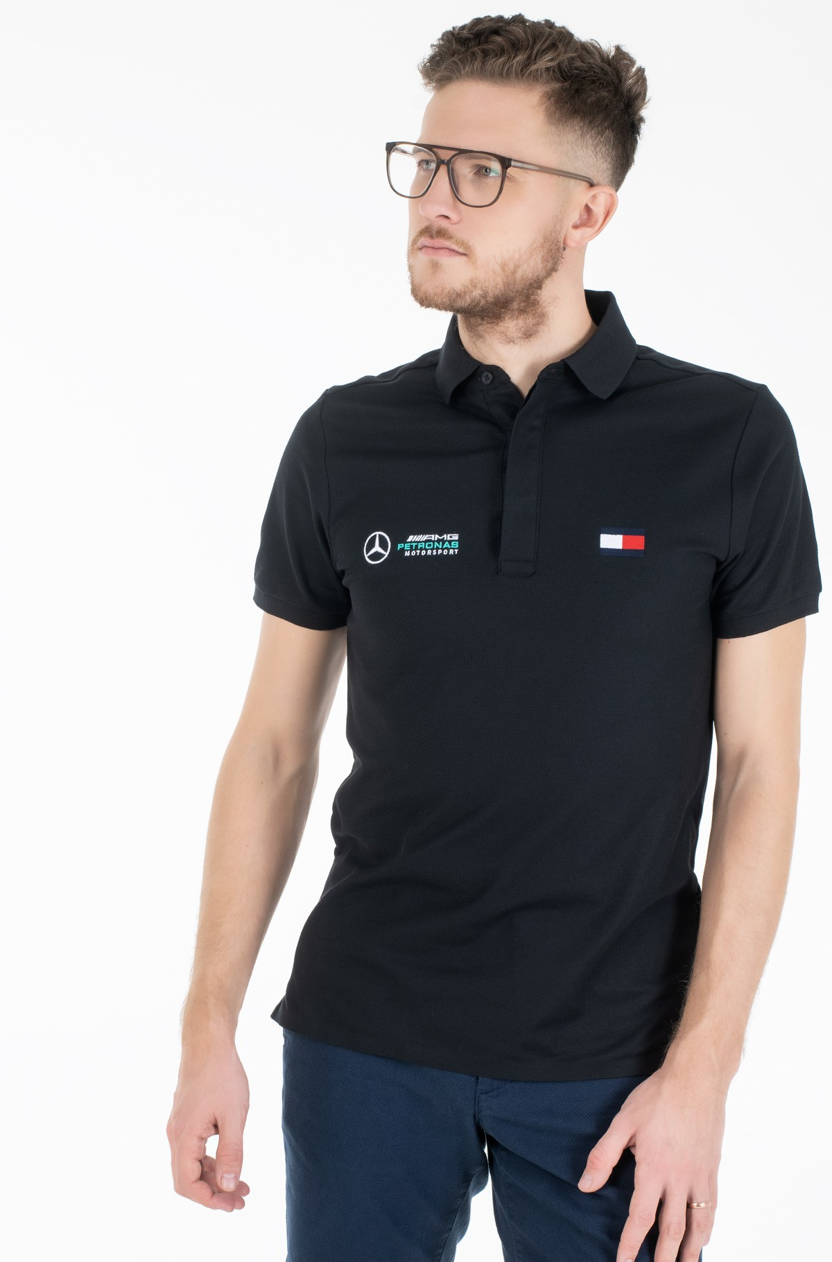 Polokrekls  1 MB TECH LOGO SLIM POLO-full-1