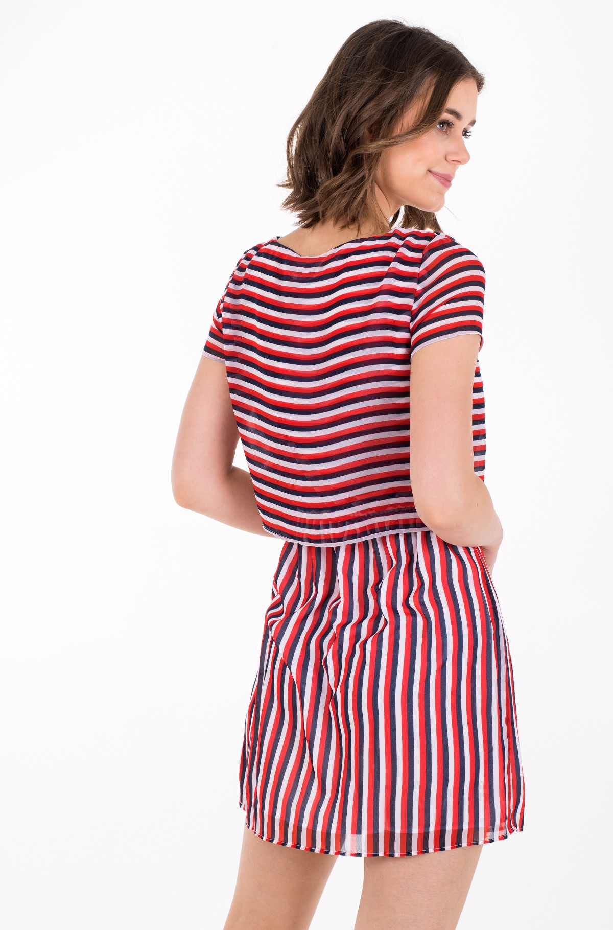 Suknelė TJW TIE WAIST STRIPE DRESS-full-3
