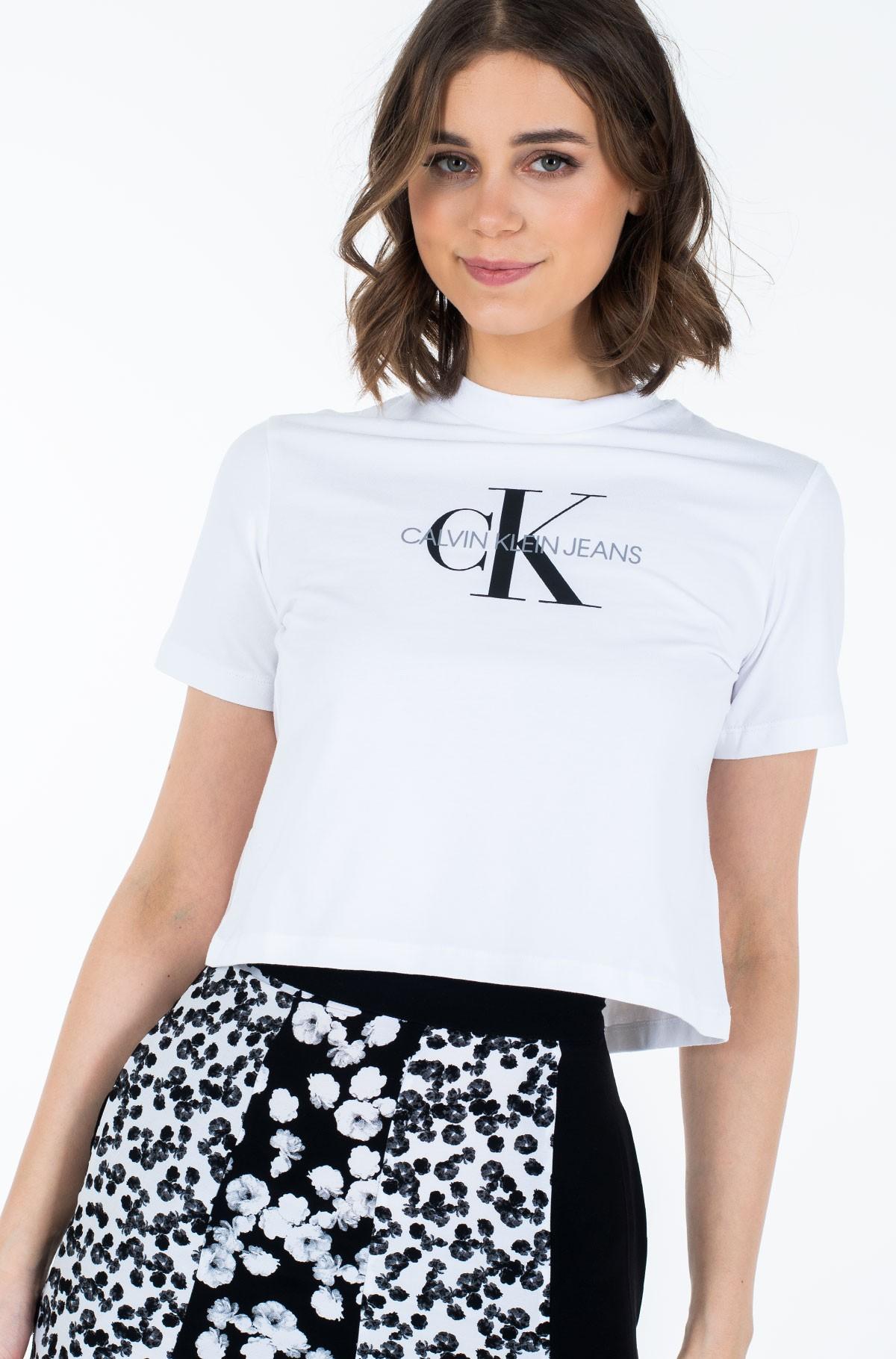 Marškinėliai MONOGRAM MODERN STRAIGHT CROP-full-1