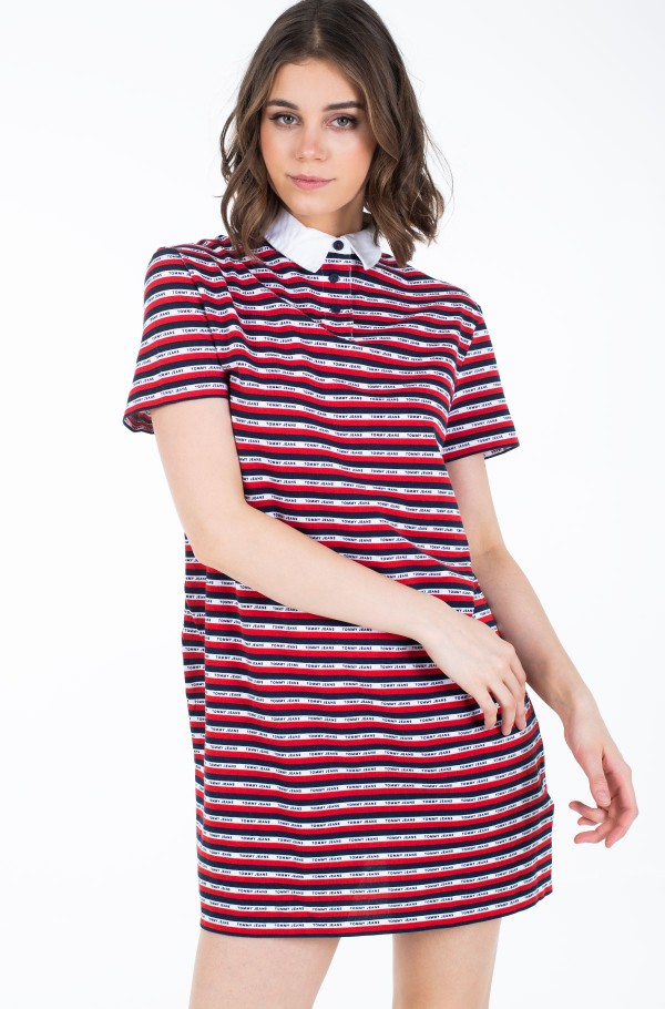 TJW STRIPE POLO DRESS-hover