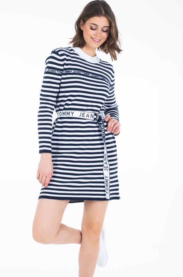TJW BELTED SWEATER DRESS-hover
