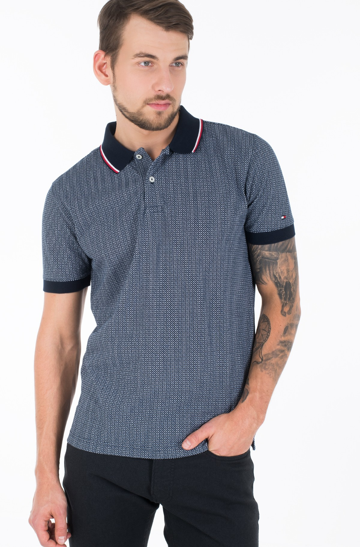 Polo MICRO PRINT REGULAR POLO-full-1