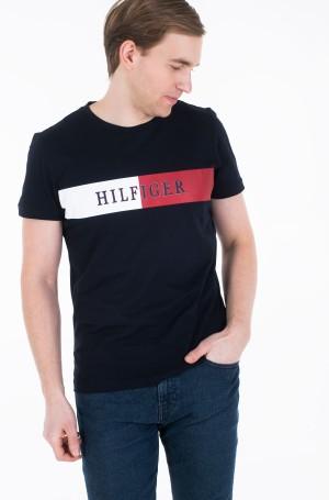 Marškinėliai BLOCK STRIPE HILFIGER TEE-1