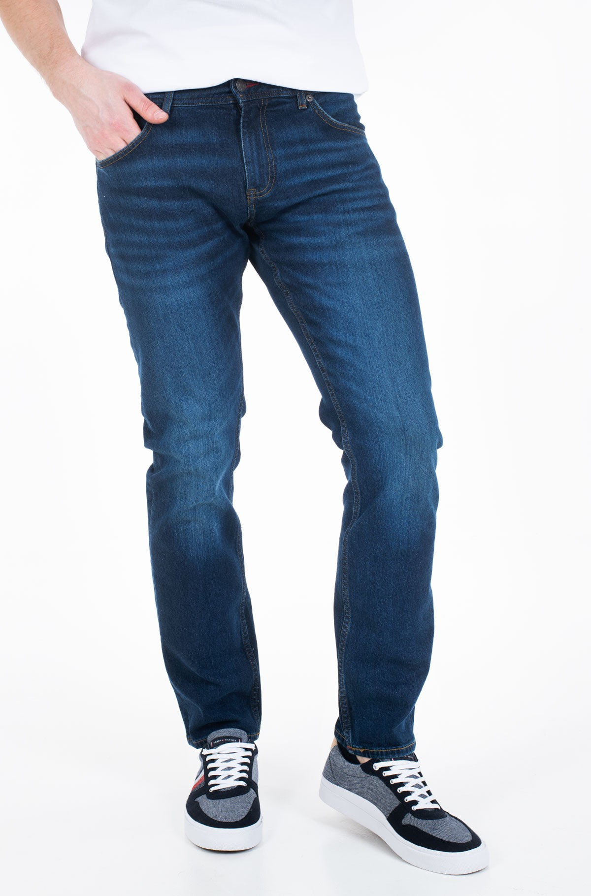 Džinsinės kelnės SLIM BLEECKER STR BOWIE BLUE-full-1