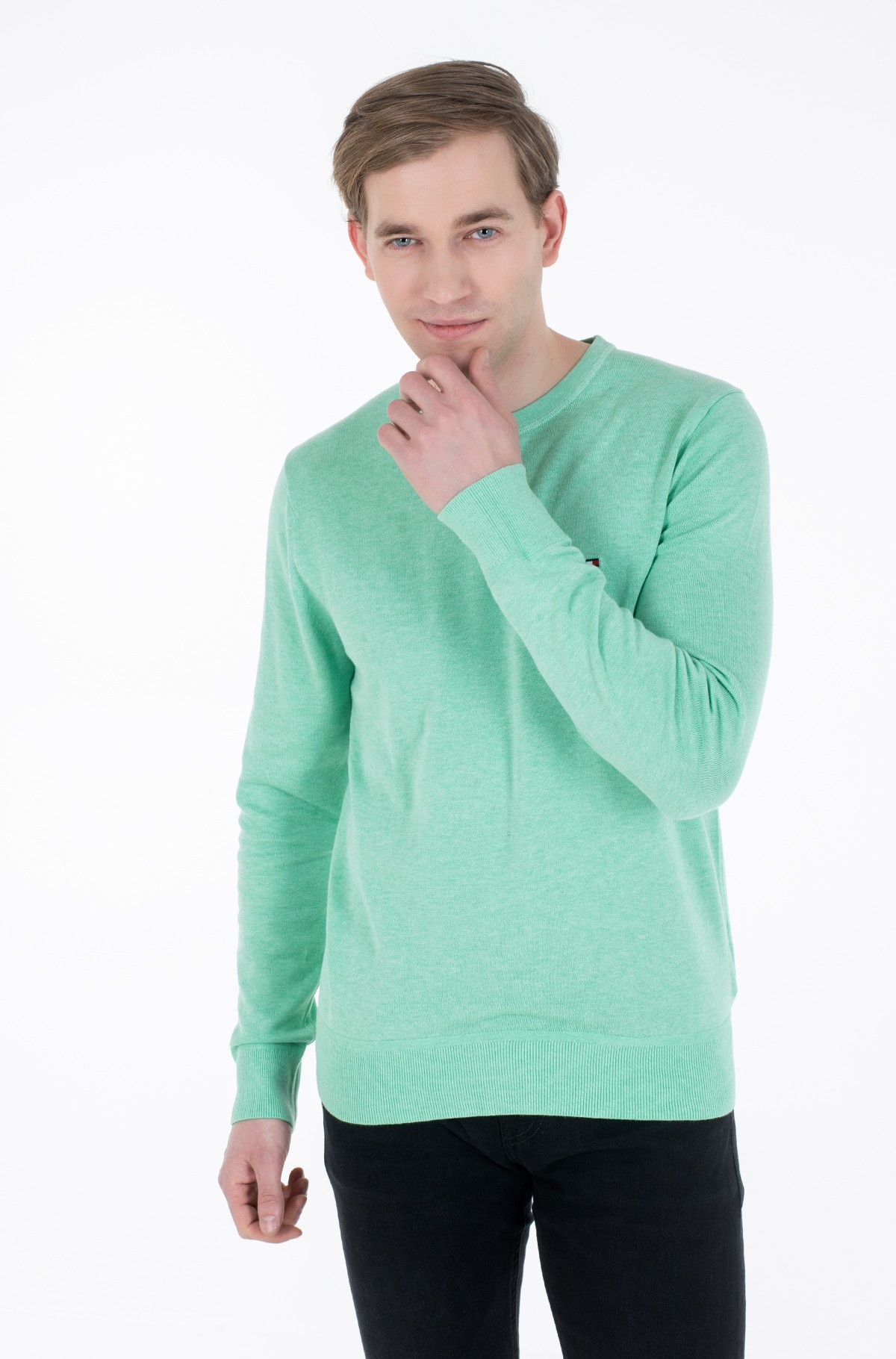 Kampsun ORGANIC COTTON SILK CREW NECK-full-1