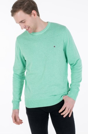 Kampsun ORGANIC COTTON SILK CREW NECK-2
