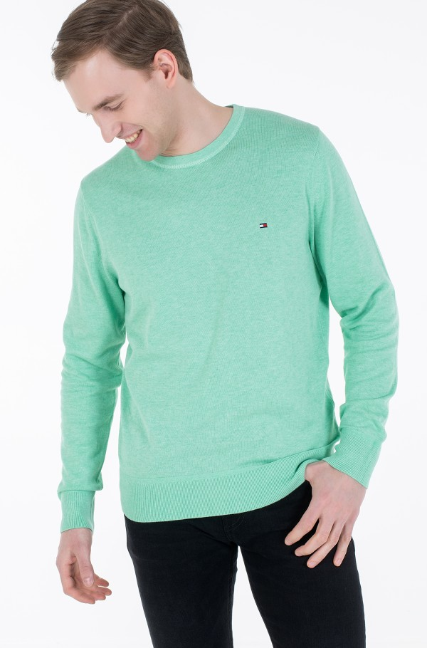 ORGANIC COTTON SILK CREW NECK-hover