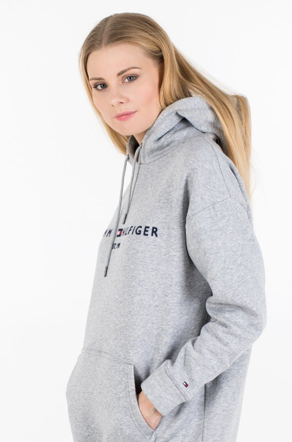 TH ESS HOODED DRESS LS-hover