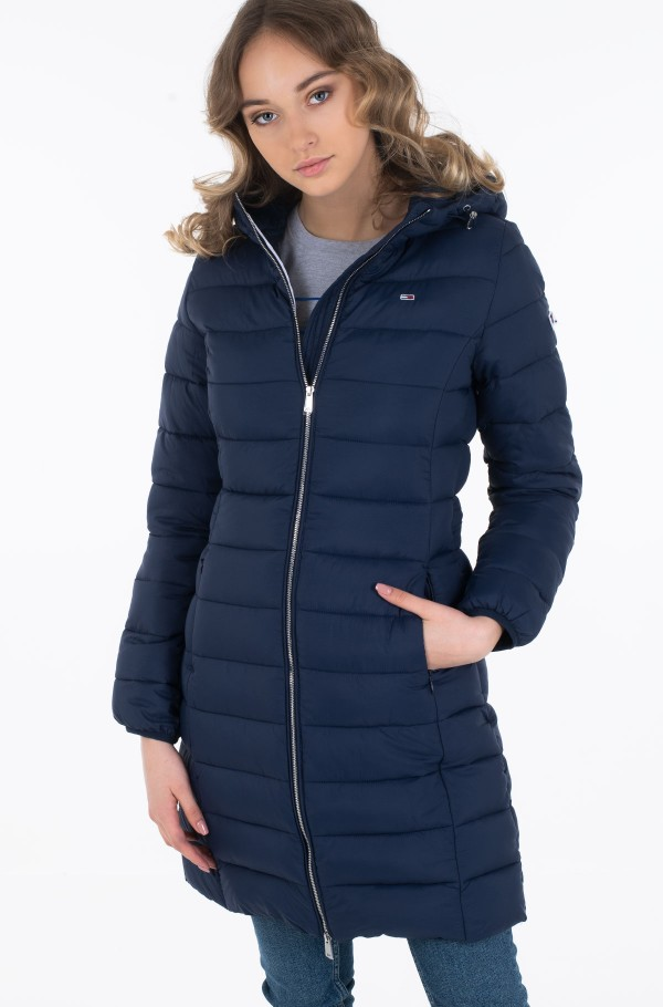 TJW BASIC QUILTED HOODED COAT