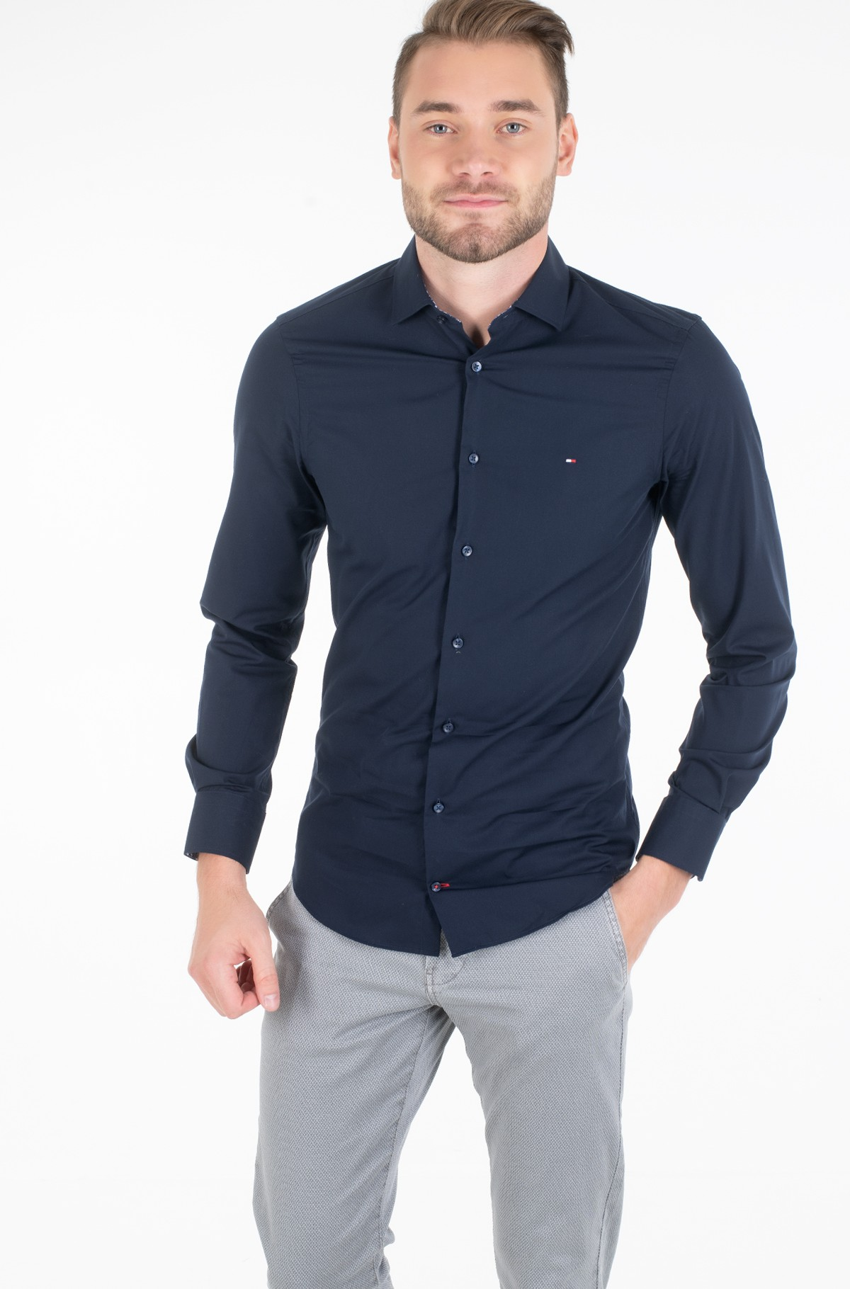Marškiniai POPLIN CLASSIC SLIM SHIRT-full-1