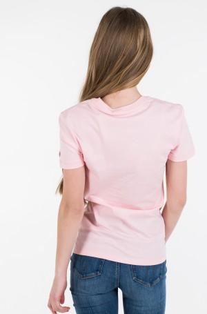 Marškinėliai METALLIC MESH CK SLIM TEE-2