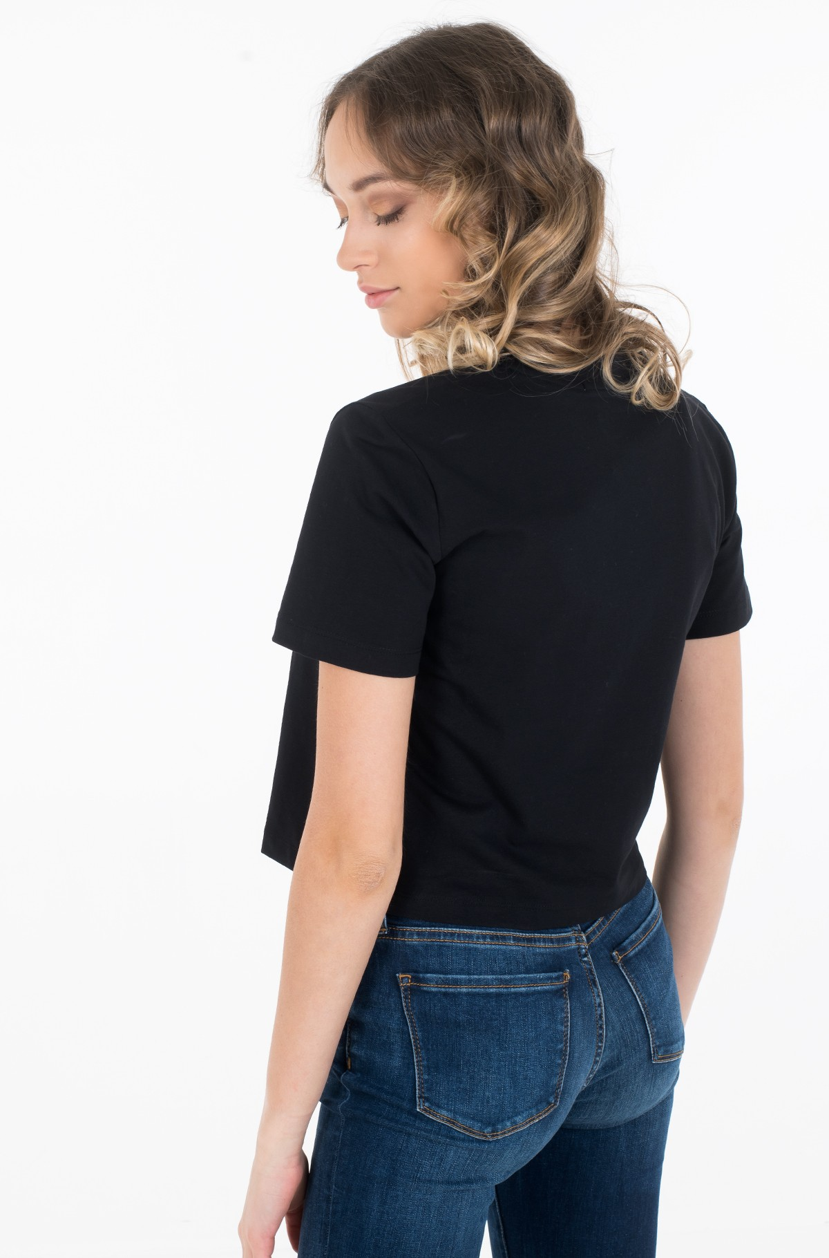 Marškinėliai MONOGRAM MODERN STRAIGHT CROP-full-2