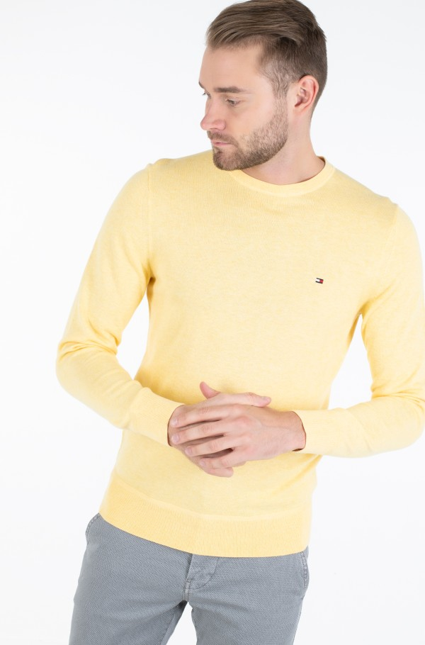 ORGANIC COTTON SILK CREW NECK