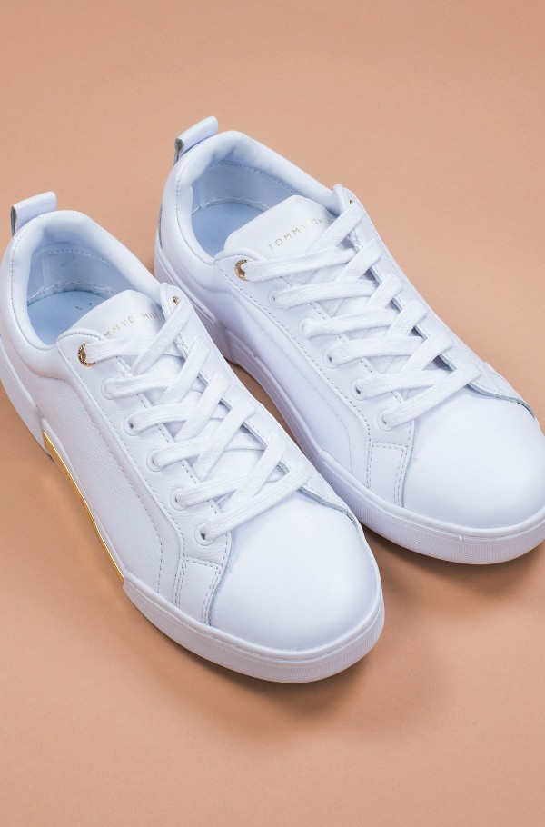 BRANDED OUTSOLE METALLIC SNEAKER-hover