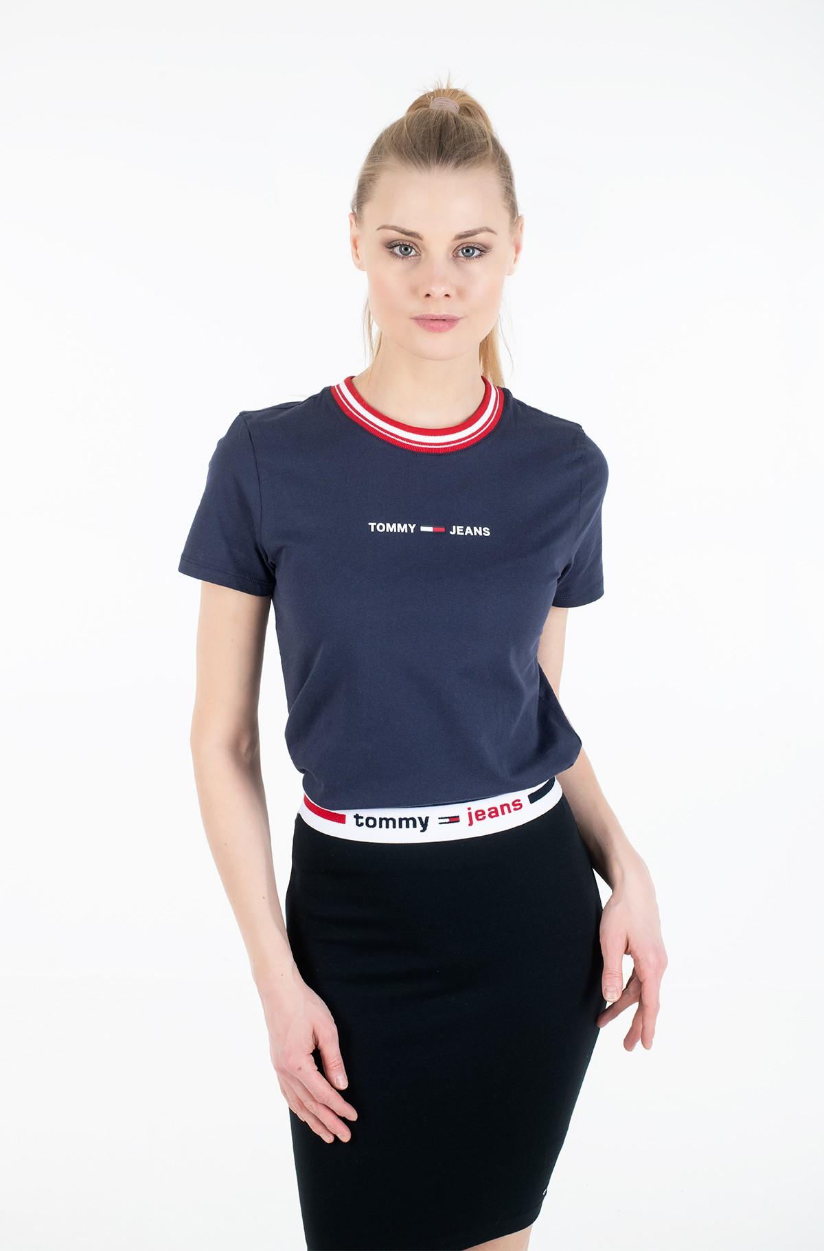 Marškinėliai TJW CONTRAST RIB LOGO TEE-full-1